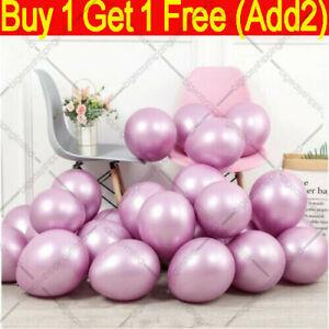 "METALLIC LATEX PEARL CHROME BALLOONS 12"" Helium Baloon Happy Birthday Party"