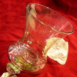 (2) GLOCKEN BECHER Franken frankish Bell-Cup Glas Glass Replica
