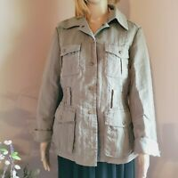 J.jill cotton light green cargo utility jacket Women's SIZE M
