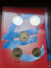 monaco sèrie 2002 (5 pièces  0,10-2,00 euros)