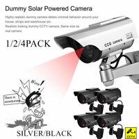 Waterproof Solar Power Fake Camera CCTV Realistic Dummy Security Cam Blinking