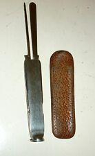 Ancien couteau de pipe ELOI PERNET ancien avec étui cuir