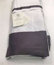 Restoration Hardware Italian Banded Sateen Bed Skirt Cotton King Orchid NEW $169
