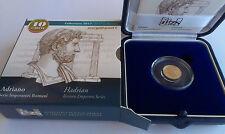 """ITALIA 10 EURO 2017 oro gold proof fondo specchio """"ADRIANO"""" serie Imperatori"""