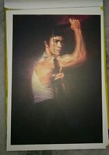 李小龙彩色明信片 Bruce Lee 75th Birthday Pictorial Full Color Post Card #4 Nunchaku