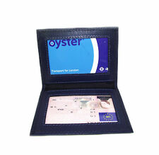 Persoanlised ID Blue leather card holder oyster card wallet Add your Text