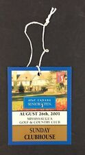 08/26/2001 Mississauga Golf Country Club Final Day Badge At&T Canada Senior Pen