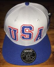 NEW USA Red White Blue Official Adult Snapback Baseball Hat Cap United States