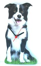 More details for border collie sheepdog wooden wall clock  gift boxed clearance