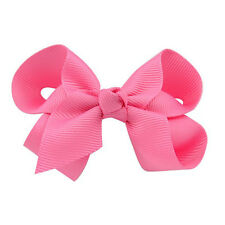 3 ''Baby Kid Bow Girls Hair Bow Clip Hairpins Grosgrain Ribbon Boutique Headwear