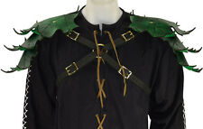 Leather Pauldrons Elven Leaf Custom Color Harness Larp Gear Cosplay Theater Garb