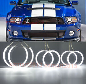 CCFL 6 halo rings for Mustang Shelby GT500 10-2014 xenon headlight fog light DRL