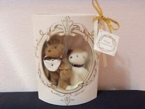 vintage 1991 No American Bear Co Happy Annibearsary jointed bear couple MIB