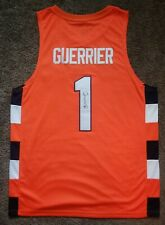Syracuse Orange Basketball- Quincy Guerrier Signed Orange Custom Jersey