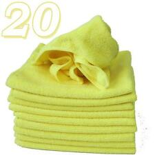 10 x Micro Fibre Cloths Large Super Soft Washable Yellow Duster Car Home Work