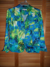 WOMENS ERIN LONDON JACKET-ZIP FRONT- PRINT-SIZE M