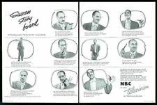 1952 Groucho Marx 10 photo NBC TV vintage print ad