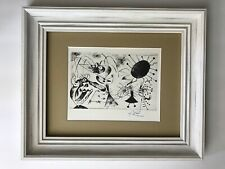 JOAN MIRO ORIGINAL 1958 BEAUTIFUL SIGNED PRINT MATTED 11 X 14 + LIST  $795