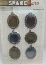 Spare-Parts Scrapbooking 6 Gold & Silver Toned Frame Charms