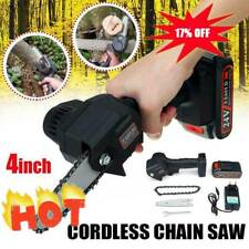 Rechargeable Electric Chain Saw Mini Wood Cutting Lithium Chainsaw AU Plug Hot