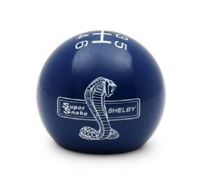 2015-2020 Mustang Super Snake Shelby Logo Shift Knob / Ball  Blue w/ White