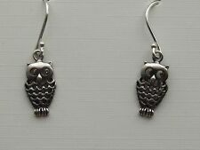 OWL STERLING SILVER   DROP EARRING   + FREE GIFT BOX