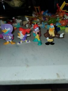 "1992 - 4 DISNEY DARKWING DUCK FIGURES - 2"" PVC BY KELLOGG CEREAL"