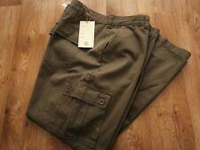 "Mens Kam Jeanwear KBS111 Khaki Combat Trousers Cotton Cargo Pants Size 48""w 31""L"