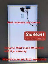 SUNWATT 180W mono solar panel 18V 20A controller andson 12V battery caravan BOAT