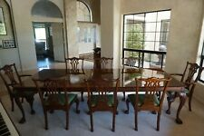 Chippendale STICKLEY Mahogany Dining Table set with 8 Chairs