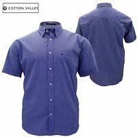Mens Big Size Cotton Valley Checked Casual Short Sleeve Formal Shirt 3XL 5XL 6XL