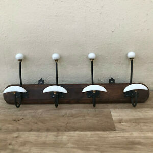 Antique French Coat Hook Hat 3 Pegs Hanger Faux Bamboo rack 2807218