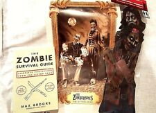 """Zombie Survival Guide,2 Pk 24"""" Jointed Zombies,Zombersons Cling Halloween Lot"""
