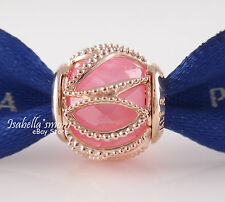 INTERTWINING RADIANCE Genuine PANDORA Rose GOLD Plated/PINK Charm/Bead 2017 NEW