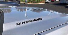 5.3L Performance Decal Sticker Emblem Logo FITS: GM Vortec Chevy Silverado Black