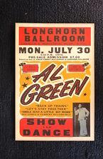 Al Green Tour Poster 1984 Longhorn Ballroom Dallas Texas