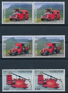 [I964] Faroe 2016 Fire Vehicles good set in Pair of stamps very fine MNH