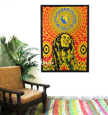 Bob Marley Cotton Textile Poster Size Wall hanging Tapestries Table Cloth Sheets