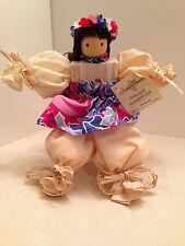 "Hula Girl Doll Island Treasure Hawaii Potpourri Gardenia Refillable Hangtag 11"""