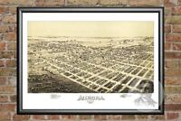 Old Map of Aurora, MO from 1891 - Vintage Missouri Art, Historic Decor