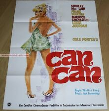 SHIRLEY MACLAINE - FRANK SINATRA - CAN CAN * RARE GERMAN POSTER!