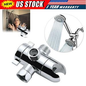 ABS Fix Bracket 3-Way Valve Sprayer Arm Mount Shower Head Diverter Bathroom