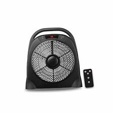 Hyd-Parts 12inch 3 Speed Table Fan Floor Fan with Remote Control Air-Circulat.
