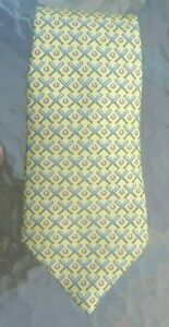Vineyard Vines silk boy's neck tie gray crossed baseball bats on yellow