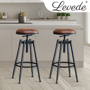 2x Levede Rustic Industrial Bar Stool Kitchen Stools New Dining Barstool Chairs
