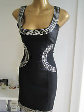 Jane Norman BNWT Size 6 8 NEW Black Stud Jewel Top ASOS Look Shop Bodycon Dress