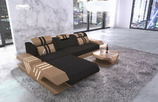 Luxury Corner Sofa Design Fabric Sofa Venice L Shape with recamiere LED Lighting