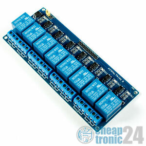 8-Kanal Relais Modul Optokoppler 5V Low Pegel Arduino Raspberry Pi