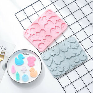 Baby Shower Silicone Cake Chocolate Baking Mold Ice Cube Tray Jelly Mould Duck