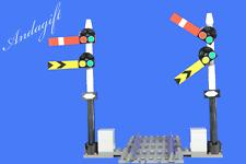 LEGO train signal 2 semaphore train signals straight track custom instructions